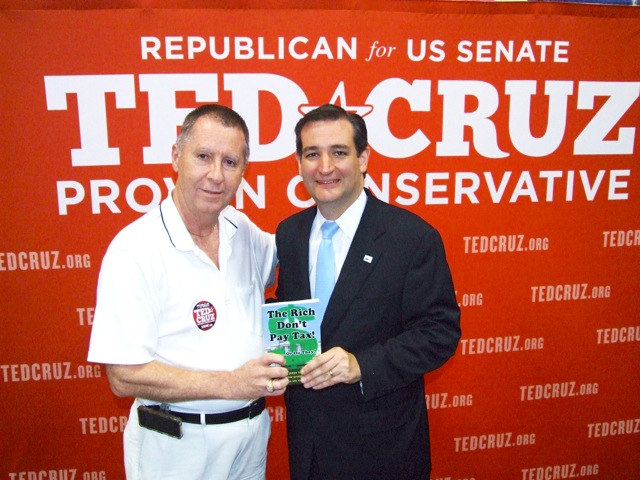 Author John Gaver and then candidate Ted Cruz