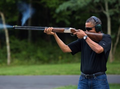 Obama pretending to know about guns