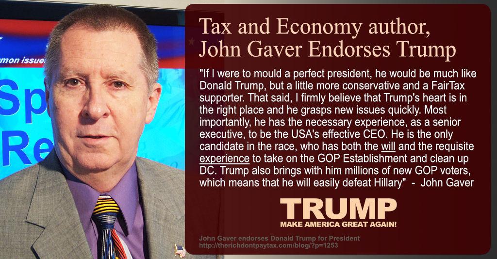John Gaver Endorses Donald Trump for President